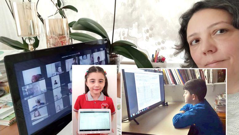 Uzaktan eğitim karne hatırası olarak video çektiler