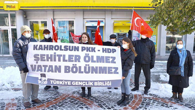 Terör örgütü PKK'ya tepki