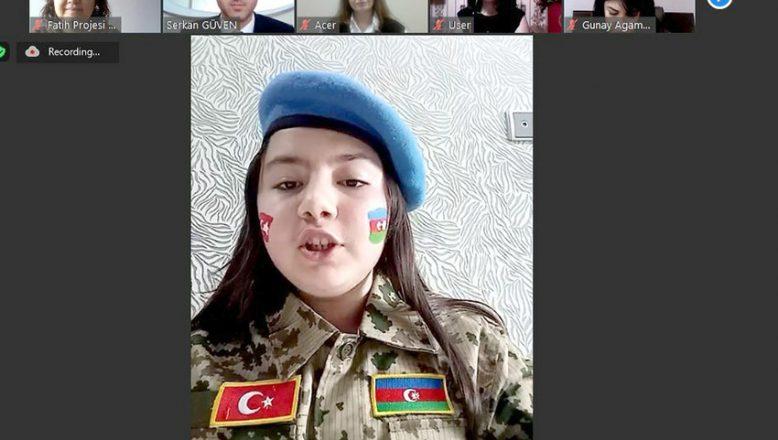 Türk ve Azerbaycanlı öğrenciler çevrim içi etkinlikte buluştu