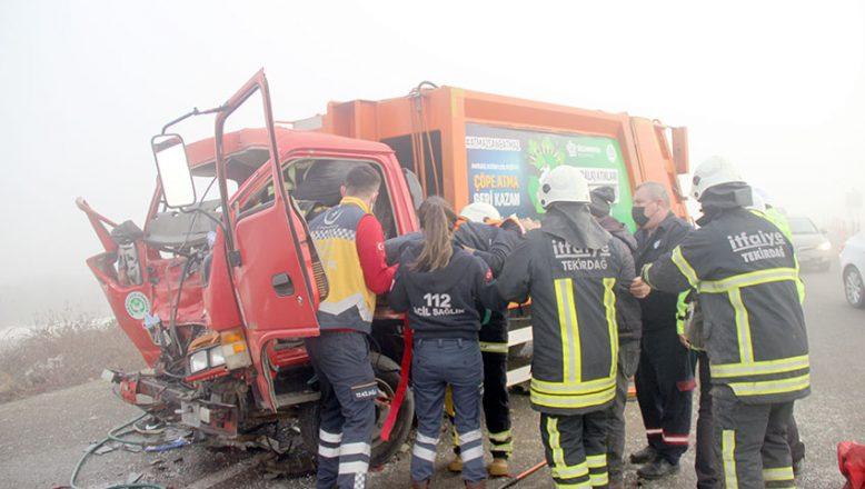 Zincirleme trafik kazasında biri ağır 2 kişi yaralandı