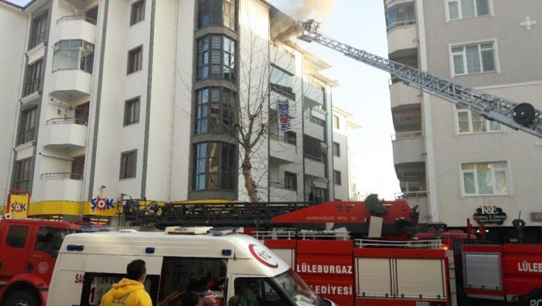Çıkan yangında panikle 5. kattan atladı