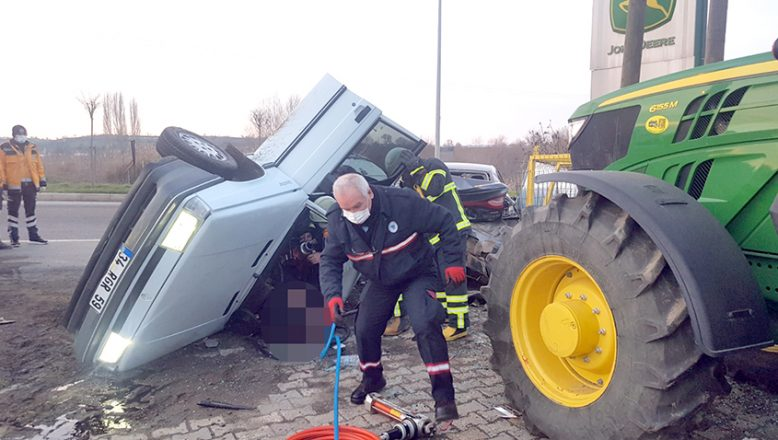 Park halindeki araca çarpan sürücüsü öldü