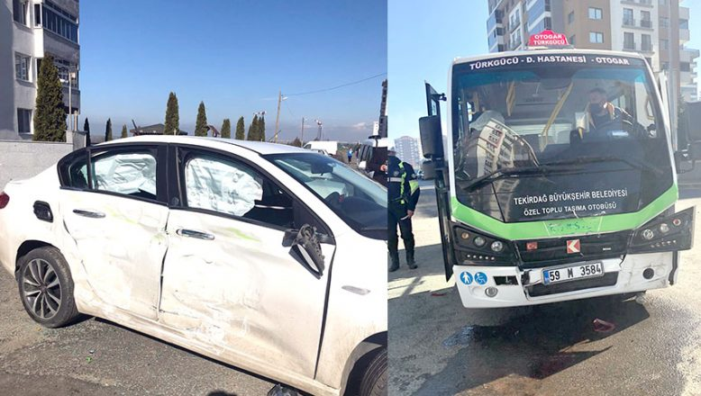 Savrulan otomobilin çarptığı 2 yaya yaralandı