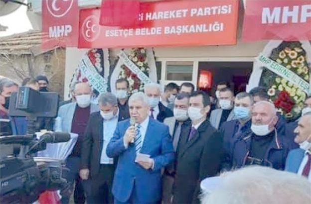 MHP Esetçe Belde Başkanlığı açıldı