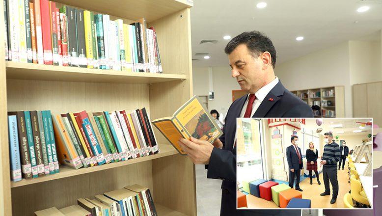 Yetişkin, çocuk ve bebek kütüphanesi açıldı