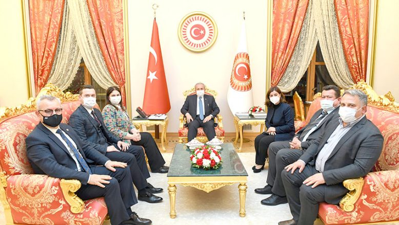 TBMM Başkanı Şentop Edirne heyetini kabul etti