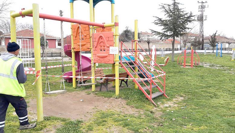 Lalapaşa'da oyun parkı ve spor alanları geçici olarak kapatıldı
