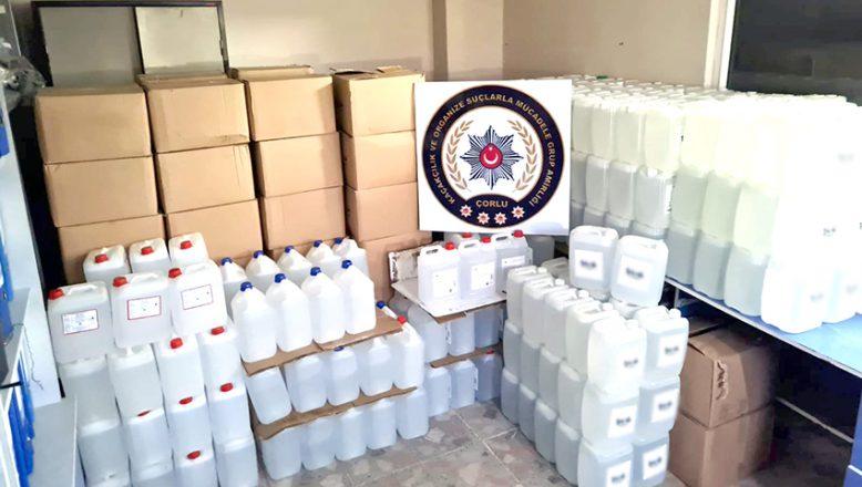 3 bin 500 litre etil alkol yakalandı