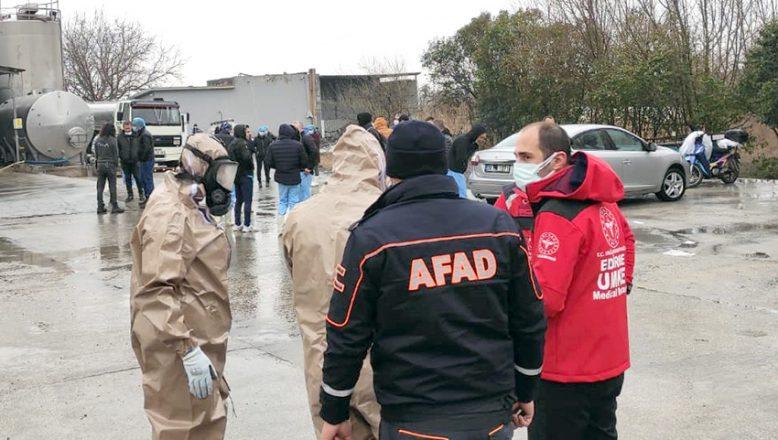 Fabrikada amonyak gazı paniği! İşçiler hastaneye kaldırıldı