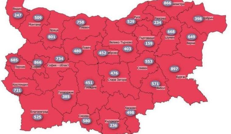 Bulgaristan'ın koronavirüs risk haritası kırmızıya boyandı!