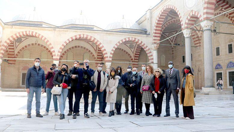 Yabancı gazeteciler Edirne'ye hayran kaldı