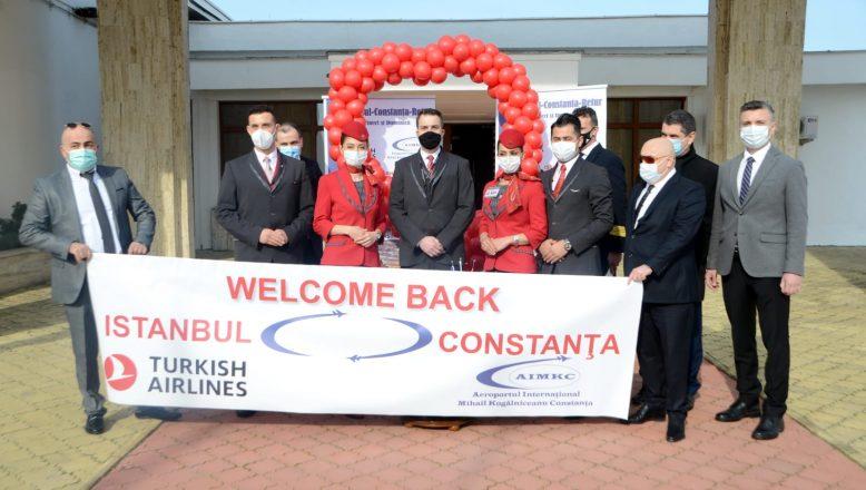İstanbul-Köstence uçuşları törenle başladı
