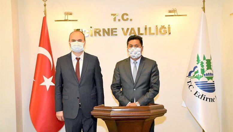 Sri Lanka Büyükelçisi Hassen, Edirne'ye geldi