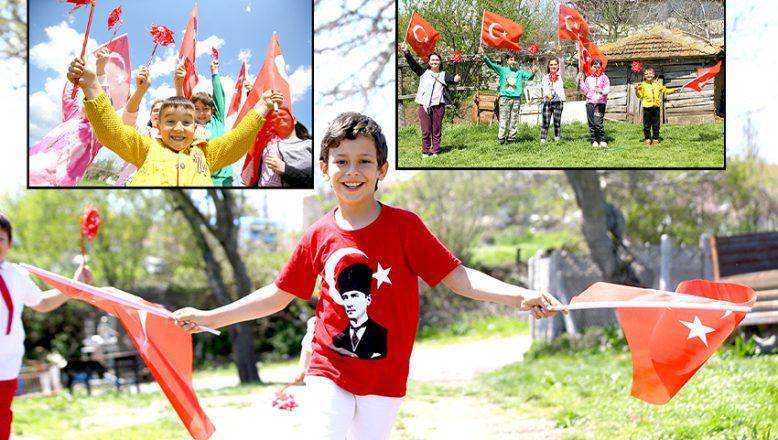 23 Nisan Ulusal Egemenlik ve Çocuk Bayramı'nı coşkuyla kutlayacaklar