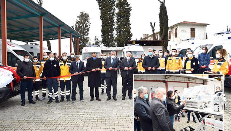Tahsis edilen ambulanslar törenle teslim alındı