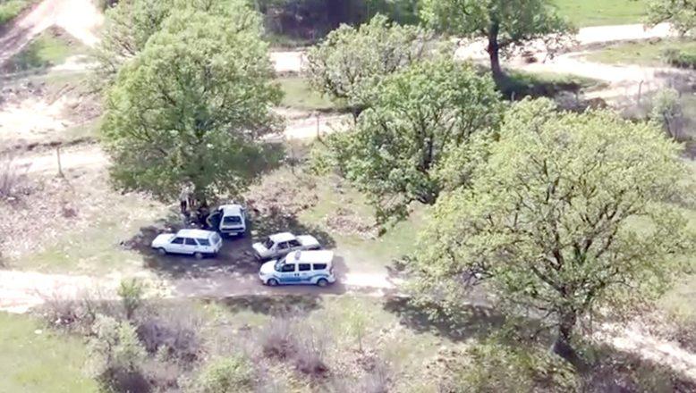 İhlalci piknikçiler drone yakalandı