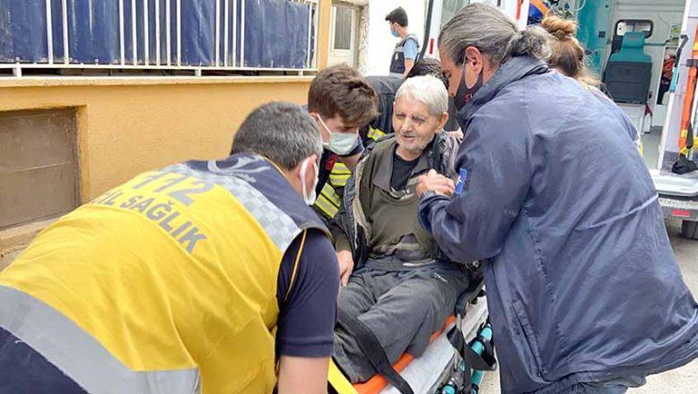 İtfaiye ve sağlık ekipleri kurtardı