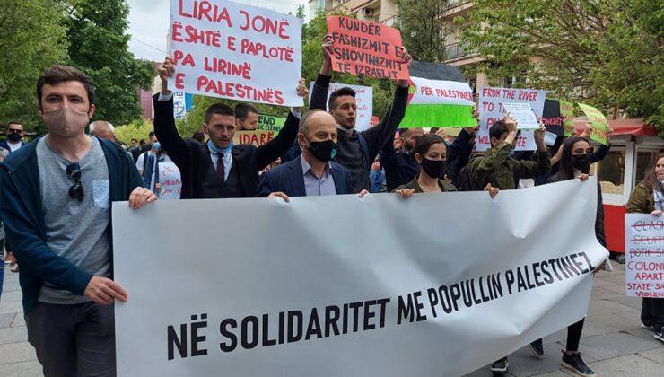 Priştine'de Filistin Halkına Destek Yürüyüşü Düzenlendi