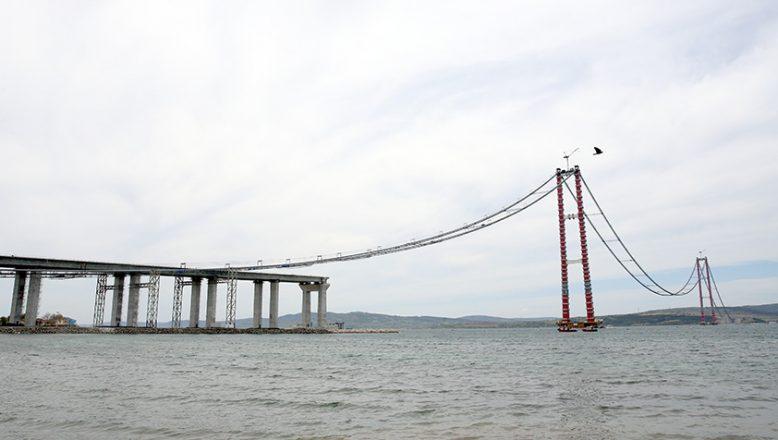 Son çelik halat montajı yapıldı