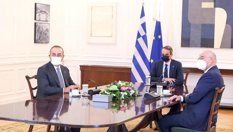 Bakan Çavuşoğlu, Yunanistan Başbakanı Miçotakis ile görüştü