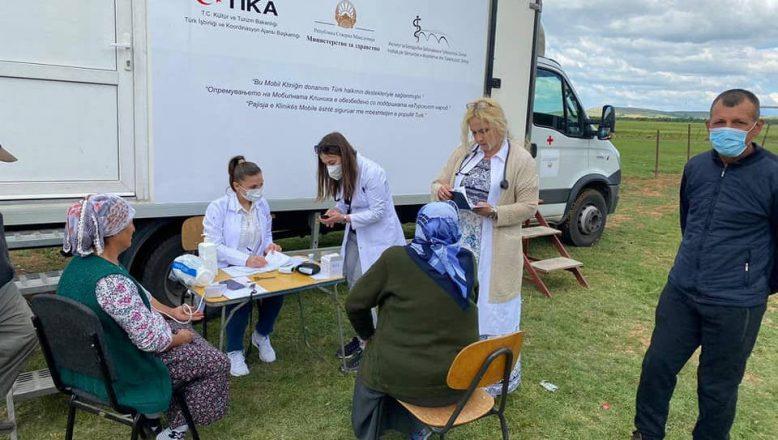TİKA'dan Makedonya'da Mobil Klinik Sağlık Taraması Projesi
