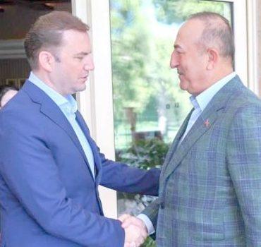 Dışişleri Bakanı Osmani, Türkiye Dışişleri Bakanı Çavuşoğlu ile görüştü