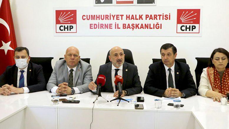 CHP heyeti Edirne'ye geldi