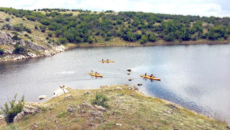 Süloğlu Barajı'nda kürek çektiler