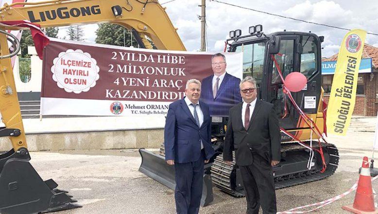 AB'den Süloğlu'na hibe kepçe ve kamyon