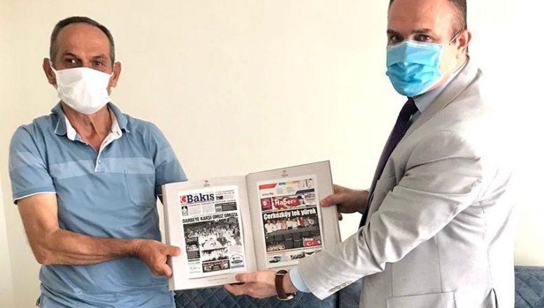 BİK Müdürü Karakaya'dan gazi Çiftçi'ye babalar günü ziyareti
