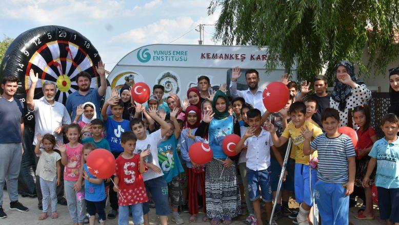 Kuzey Makedonyalı çocuklar 'Oyun Karavanı'nda buluştu