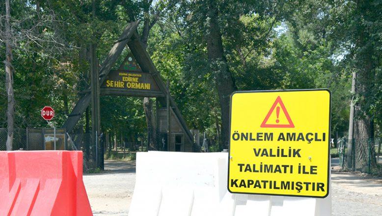 Kent Ormanı girişlere kapatıldı