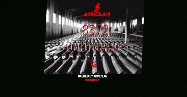 """Türk hackerlardan Sırbistan devlet sitesine """"Srebrenitsa"""" notu"""