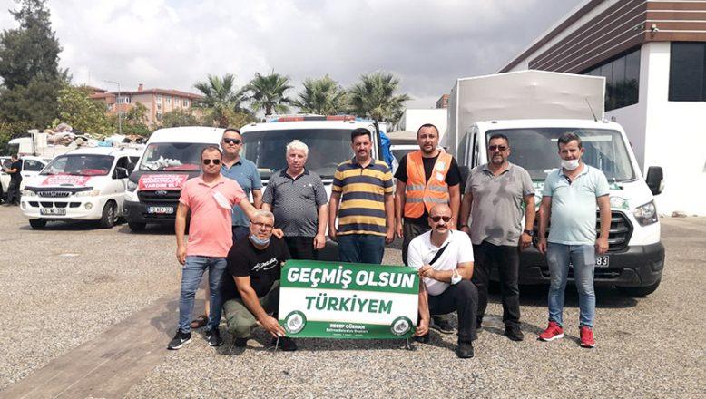 Yardımlar Manavgat'a ulaştı