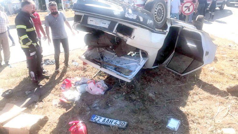 Kavşakta feci kaza! Biri çocuk 3 kişi yaralandı