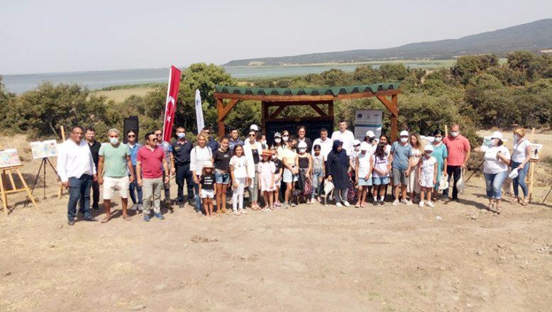 Gala Gölü'nde öğrencilere açık hava eğitimi
