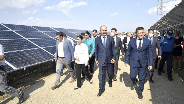 Güneş Enerjisi Santrali hizmete açıldı