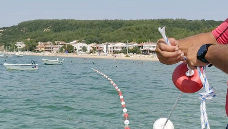Güvenli yüzme alanları oluşturdu