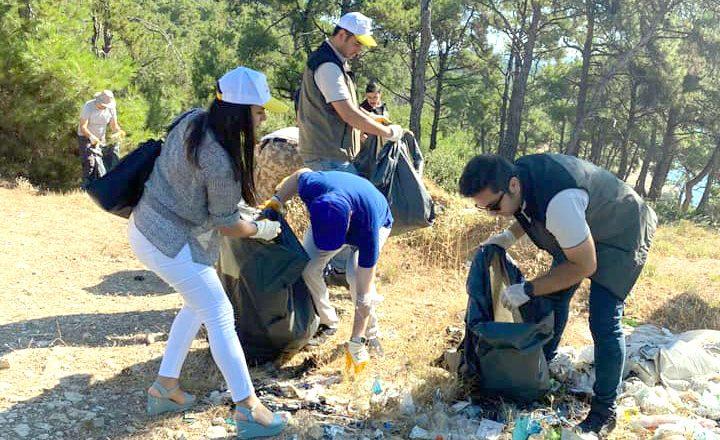Ormanlık alanda temizlik seferberliği