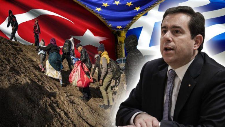"""Afgan göçmen edişesi! Göç Bakanı Mitarakis: """"Kapasitemiz yok, Türkiye'ye destek verelim"""""""