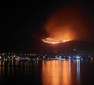 Hırvatistan'ın Dalmaçya kıyılarında yangın