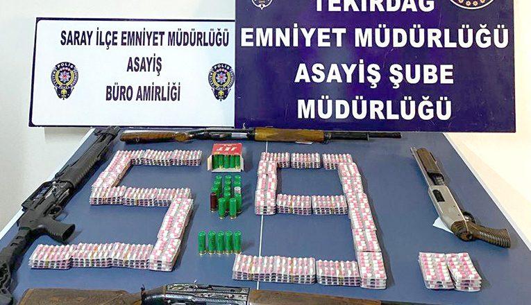 Asayiş ve uyuşturucu operasyonlarında 14 gözaltı