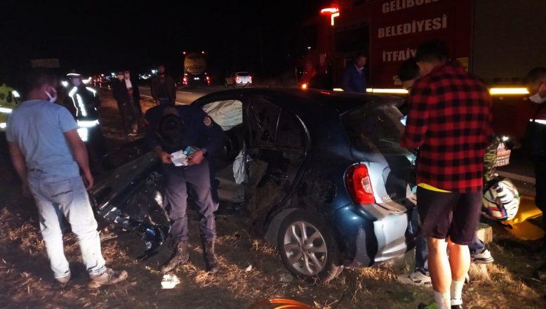İki otomobilin çarpıştığı kazada 4 kişi yaralandı