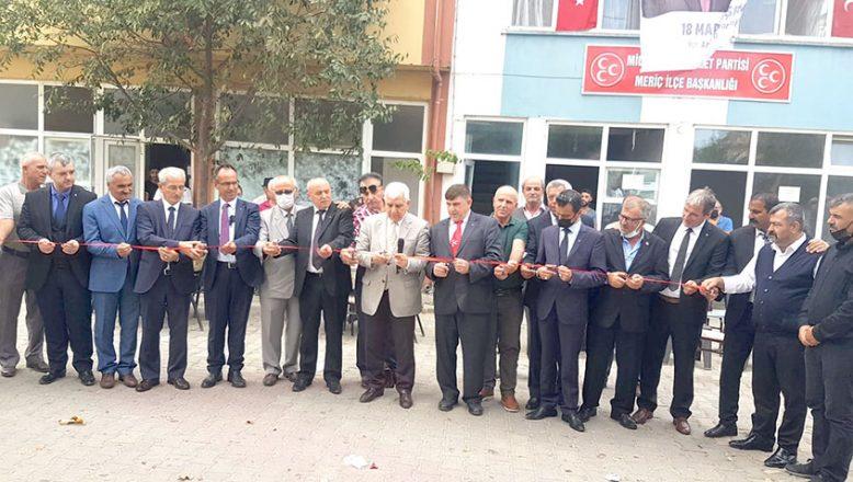 MHP'nin Meriç İlçe binası açıldı