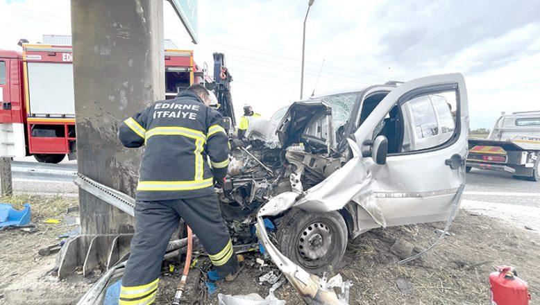 Bariyer kazası: 1 yaralı