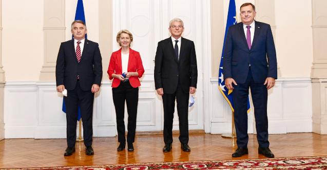 Von der Leyen'den Bosna Hersek'in AB üyeliğine destek